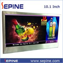 10.1'' Full hd lcd advertising display wifi/3g for elevator/restroom/supermarket/resturant