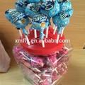 12g leite e chocolate sabor lollipop em exposição jar