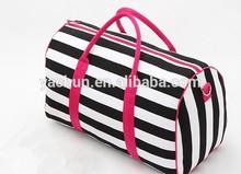 Canvas Big Bag Leisure Tote Bag Travel Cross Body Large Capacity Beach bag Strip HandBag
