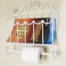 Metal wire wall mounted rack holder