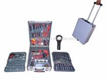 LB-342-186PCS household tool kits in aluminium case(garge hand tools;household tool moulds kits;hand tools kit manufacturer)