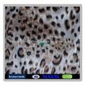 75d polyester leopar desenli ipek şifon elbise için kumaş