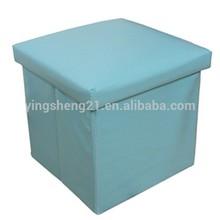 PU Storage Stool Changing Shoes Stool Multi Useful Foldable Storage Case Box