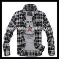Mais recente projeto melhor vendas produtos xadrez camisa de seda pura para atacado