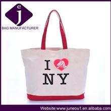 China supplier fashion woman handbags female canvas shoulder bag beautiful canvas lady handbag HD017