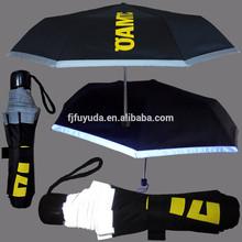 2015 gift promotional folding safety reflective umbrella