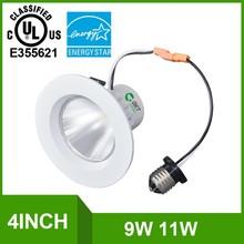 "3000K Warm White 11Watt 4"" LED Can Light,11Watt4 inch Retrofit LED Recessed Lighting Fixture"