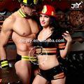 profissional traje de bombeiro para o homem partido sexy cosplay bombeiro traje casal