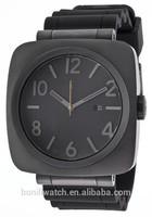 Waterproof quartz men silicone rubber bracelet watch silicone watch band
