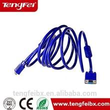 High quality Tengfei 15 pin d sub rgb vga cable splitter cable