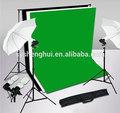 صورة خلفية استوديو الدعم الفنى الشاشةخفيفة أبيض أسود أخضر الإضاءة طقم