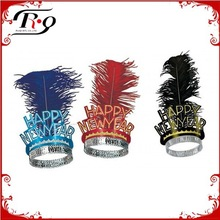happy new year feather crown hot party