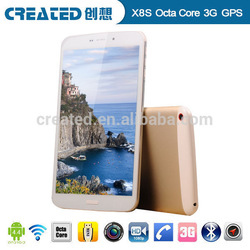 Fashion style 8'' octa core tablet pc with 3g phone call function