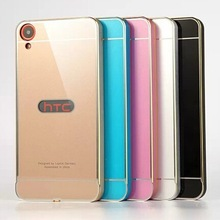 luphie aluminum metal bumper acrylic Back cover case for HTC Desire 820