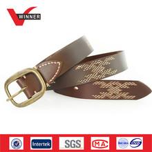 Wholesale men's Genuine leather belts manufacturer
