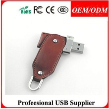 free logo leather ubs flash drive , colorful leather usb promo gifts