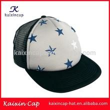custom new trucker cap for 2015/100 polyester plain cheap foam and mesh kids baby trucker cap made in China