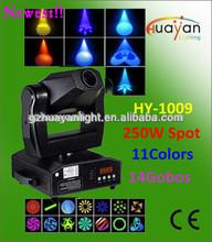 Professional dj & bar beam light 250w Rotated and Fixed Gobos Moving Head Spot Light JENBO LAMP Spot Moving Head Light