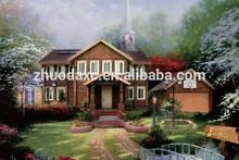Prefabricated light gauge steel framing villa with decorative interior & exterior wall panels