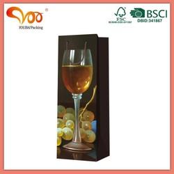 Latest design high quality paper wine bottle bag