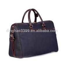 Best selling zipper PU leather men's duffel bag,portable tote travel bag for men