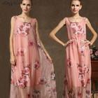 Casual Dresses Guangzhou Wholesale Sleeveless Maxi Dresses Elegant Ladies Long Summer Fashion Women Dress 2015 (5253)