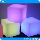 Outdoor lighted fancy plastic LED mood light cube