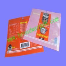 custom printed food grade heat seal plastic bags for cookies