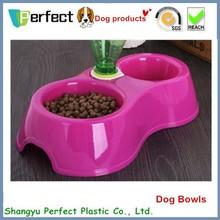 Plástico bebedor de água, plástico cão tigela