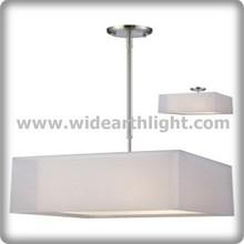 simple square fabric modern lighting hanging pendant lamp (C50286)