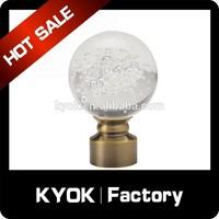 KYOK double curtain rod & curtain rod accessories factory,chrome curtain rod finial