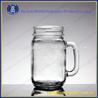 16oz OEM logo glass mason jar with daisy cut lid and straw
