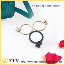 #5 nylon zipper painting slider ring zipper pull