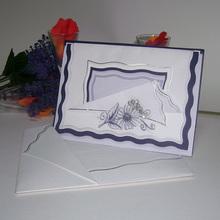 2014 hot selling classical designed fashionable indian handmade wedding invitation card