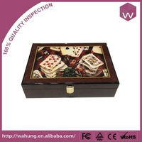 personalized antique train wooden chess game box