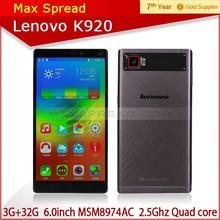 High quality mobile phone cheapest 6inch 2560*1440 quad core Lenovo K920 vibe z2 pro lenovo mobile phone