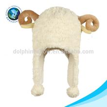 Cute plush sheep animal hat for kids winter hat animal shaped hat