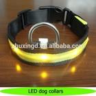 LED light dog collar, personalized nylon LED pet dog collar, dog tracking collar