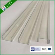New style u shape transparent pvc edge banding