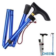 pp handle aluminum telescoping walking cane