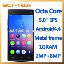 Customized Android mobile phone Octa core,New bluetooth GPS Android 4.4 smartphone 5inch