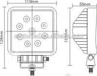 IP67 spot/flood beam Auto Led Work 27W 12volt led work lamp