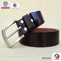 deep red stainless steel buckle man belt