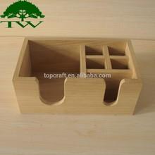 2015 handmade eco-friendly natural solid wooden bar caddy
