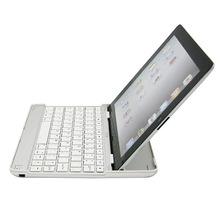 Hot sale 3 in 1 Wireless Bluetooth Keyboard+Aluminum Case+for iPad2 Stand Aluminum bluetooth keyboard for iPad 2/3