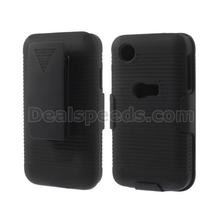 Horizontal Stripes With Belt Clip Holster Hard Case for LG D160 L40