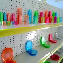 Colorful Disposable Plastic Tableware /Neon Color Plastic Tableware for Parties Celebrating