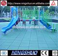 L'environnement amical et facile d'installation pour les sports de sol en caoutchouc aire de jeux extérieure