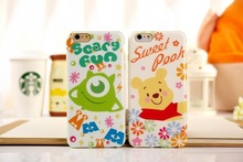 0.35 mm ultra thin carton bear mobile phone case for iphone 6
