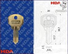 COL-6R-AA Nickel silver keys for door